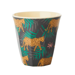 Melamine beker Leopard and Leaves