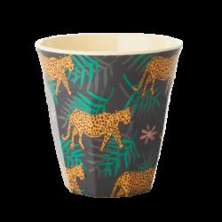 Melamine beker Leopard and Leaves
