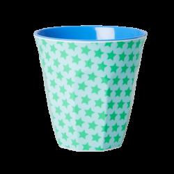 Melamine beker Green Turquoise Star