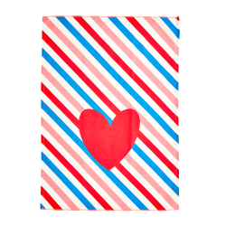 Theedoek katoen Candy Stripes