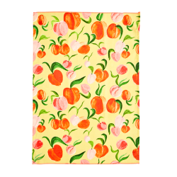 Theedoek katoen Peach