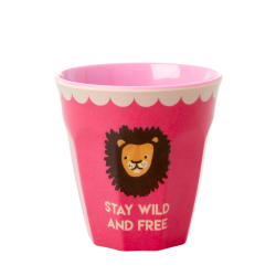 Rice beker Lion Pink