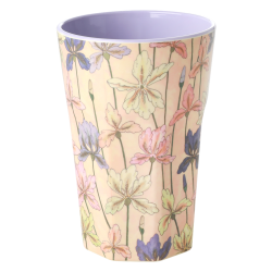 Melamine beker Tall Iris print