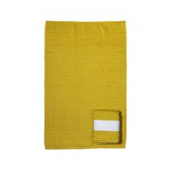 Mijn Stijl handdoek geel met banderol