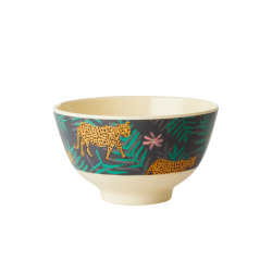 Melamine bowl small Leopard and Leaves