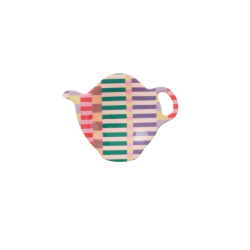 Tea Bag Plate Summer Stripes