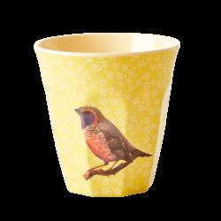 Melamine beker Vintage Bird Yellow