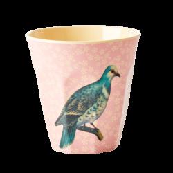 Melamine beker Vintage Bird Soft Pink