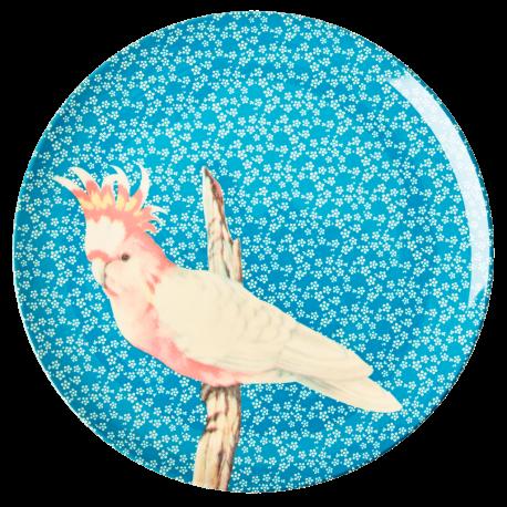 Dinner Plate Vintage Bird Blue