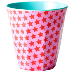 Melamine beker Star Red