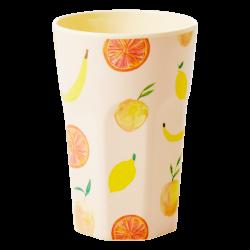 Melamine beker Tall Happy Fruits