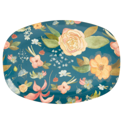 Melamine Plate Selma's Fall Flower