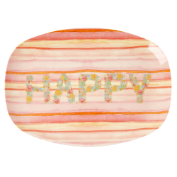 Melamine Plate Happy Pink