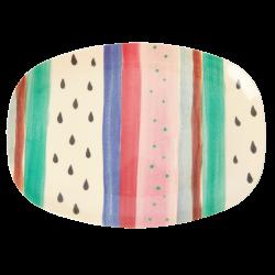 Melamine Plate Louise's Stripe