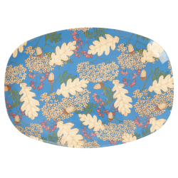 Melamine Plate Autumn and Acorns