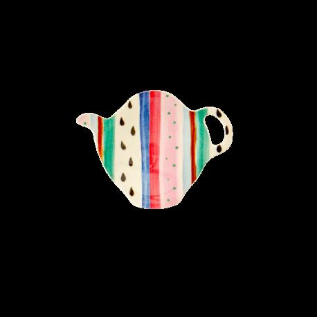 Tea Bag Plate Louise's Stripes