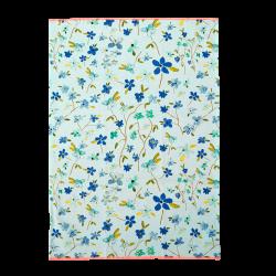 Theedoek katoen Blue Floral Print
