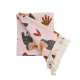 Rice Blanket Toucan Pink