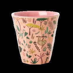Rice Melamine cup Jungle Coral