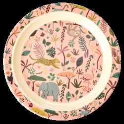 Rice Melamine Plate Jungle Coral