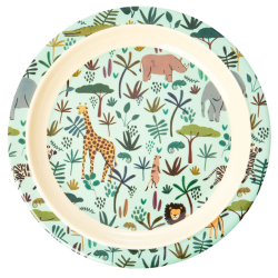 Rice Melamine Plate Jungle Green