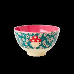 Rice Small Bowl X-mas Dark Green