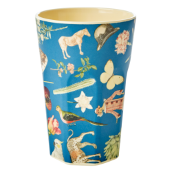 Melamine beker Tall Blue Art