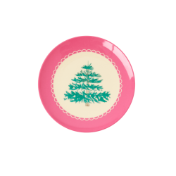 Rice Dessert Plate X-mas Pink